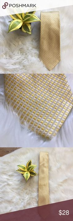 """Donald J. Trump Signature Collection Silk Gold Tie This tie is absolutely stunning. It's from the Donald J. Trump Signature Collection and is in beautiful condition.  100% Silk 60"""" Long 3.25"""" at widest point Donald J. Trump Accessories Ties"""