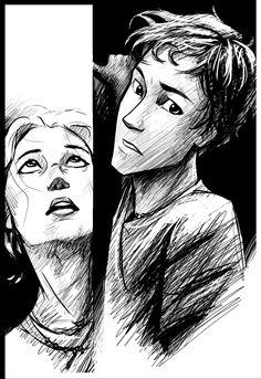 Percy and Annabeth. Tears.