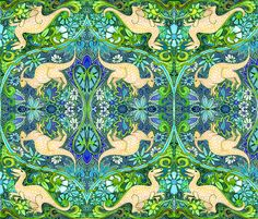 Breakfast Time, 10 Million BC fabric by edsel2084 on Spoonflower - custom fabric