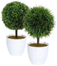 Artikeldetails:  Dekorative Kugelbäumchen, 2-fach sortiert, Höhe: 27 cm,  Material/Qualität:  Kunststoff, Topf aus Kunststoff,  ...
