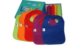 BEST Baby Teething Bibs With Snaps Closure 10 Pack Waterproof 100 Terry Cotton Colorful Dribble  Teething Unique Drooler Bibs Set  Perfect For Baby Registry Baby Shower Gift Basket NewBorn Toddler Boys  Girls By CHARIS KID ** Check out this great product.