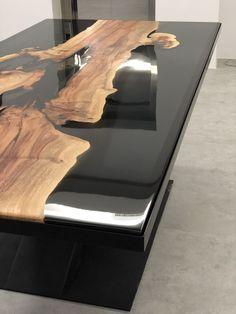 meubles en resine resine epoxy bois