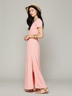Love love love this pink maxi dress! Free People