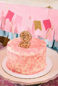 """Photo 5 of 20: The Party That Etsy Built: 35 Etsy Shops from around the world collaborate!  / Birthday """"Ruby Mae's Pink, Gold & Glitter """"Beauty Queen"""" Birthday!"""""""