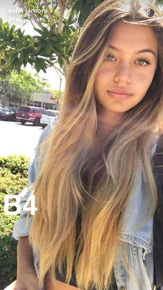 Sofia Jamora hair