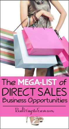 Want to start a home business, but don't have a product to sell? You can get involved in direct sales and sell products that others already love. Check this list for many different companies to consider signing on with.