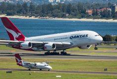 Qantas A380, Qantas Airlines, Airbus A380, Civil Aviation, World Pictures, Flight Attendant, Sailing Ships, Aircraft, Airports