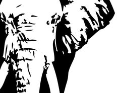African elephant line drawing - Google Search