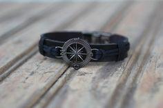 Bracelets, Leather, Men, Jewelry, Fashion, Men's Wristbands, Men's, Moda, Jewlery