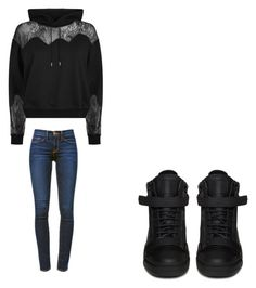 """""""😊"""" by melodyleighmitchell on Polyvore featuring McQ by Alexander McQueen, Giuseppe Zanotti and Frame"""
