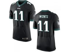NFL Philadelphia Eagles  11 Carson Wentz Nike Men Elite Alternate Black  Jersey Carson Wentz f12a2946c