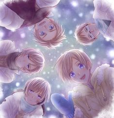 Tags: Anime, Winter, Axis Powers: Hetalia, Denmark, Sweden, Finland, Norway