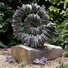 Use this garden sculpture by Tom Stogdon as an idea for art in cla … - Easy Diy Garden Projects Garden Crafts, Garden Projects, Garden Art, Outdoor Art, Outdoor Gardens, Rock Sculpture, Concrete Sculpture, Garden Features, Garden Stones