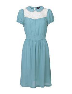 Blue Collar Lace Dress by Edith & Ella