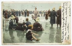 In the Good Old Summer Time, Beach. IMAGE ID: 68335, Wallach Division: Photography Collection