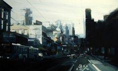 Leanne Christie painting of East Hastings street Vancouver