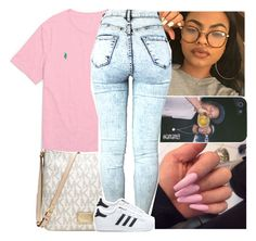 """""""i got the weed at the crib & the liquor too"""" by lamamig ❤ liked on Polyvore featuring Ralph Lauren, Michael Kors and adidas"""