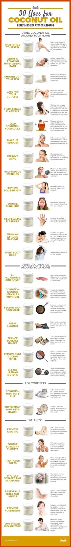 Use Coconut Oil Health - aceite de coco - 9 Reasons to Use Coconut Oil Daily Coconut Oil Will Set You Free — and Improve Your Health!Coconut Oil Fuels Your Metabolism! Beauty Care, Diy Beauty, Beauty Hacks, Pure Beauty, Natural Beauty, Organic Beauty, Beauty Ideas, Beauty Makeup, Tips Belleza