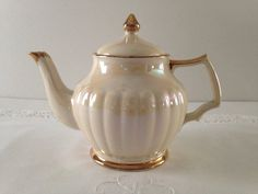 Vintage Iridescent Sadler Teapot  by TheEclecticAvenue on Etsy