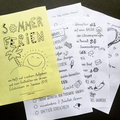"""Gefällt 111 Mal, 29 Kommentare - Volksschullehrerin (@kopfkunstundschulliebe) auf Instagram: """"Mein Sommerferienheft ist endlich fertig! ☀️ eine Mischung aus eigenen Ideen und Ideen von…"""""""