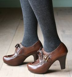 Librarian shoes to die for.  Designer Chie Mihara Fenomeno