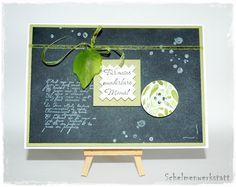 Muttertagskarte, Chalkboardtechnik, chalkboard, Stampin' Up!, Tafeltechnik, Gorgeous grunge, french foliage