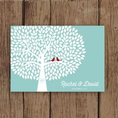 Wedding Guest Book Tree  Modern Guest Book by MooseberryPrintShop, $64.00