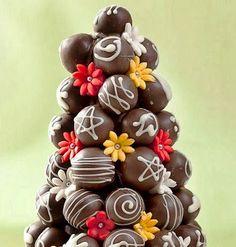 Mudança à vista: Arvores de Natal feitas com bombom...Valem por uma sobremesa!