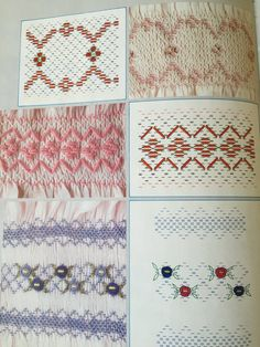 Smock embroidery magazine Muestras y Motivos by RomiWstudio