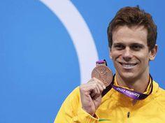 Medalha de Bronze conquistada pelo nadador Cesar Cielo nos 50 metros livres