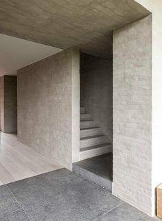 Flemish Rural Architecture - House in Zwevegem by Vincent Van Duysen Arch Interior, Interior Stairs, Interior Architecture, Interior And Exterior, Interior Design, Vincent Van Duysen, Minimalist Architecture, Brickwork, Modern Design