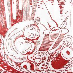 Moomin Sleeping Little My NapkinsDefault Title Moomin Cartoon, Little My Moomin, Fuzzy Felt, Tove Jansson, Sewing Baskets, Arte Popular, Stop Motion, Painted Rocks, I Tattoo