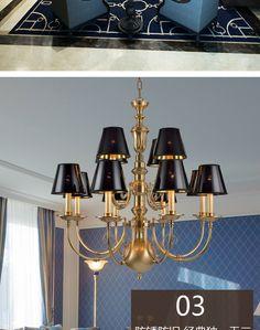 欧式吊灯简美 美式全铜吊灯全铜灯奢华客厅餐厅卧室灯具灯饰 12头-淘宝网