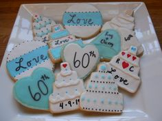 60th wedding anniversary sugar cookies