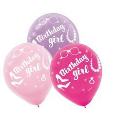 Barbie Birthday Girl Latex Balloons 6Pc