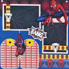 Spiderman 2 Premade Scrapbook Pages Boy Scrapbooking Paper Layout by Cherry | eBay