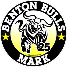 Bull Steer Personalized Car Window Decals Magnets Wall Decals and Yard Signs. Team Discounts and Fundraising! http://www.allsportdesigns.com/Bull-Window-Decals-Stickers-Magnets-Wall-Decals-p/bull101-c.htm