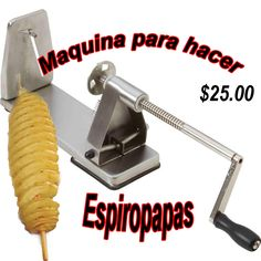 Maquina para espiropapa (Manual Tornado Potato) | M&M Enterprises Tornado Potato, Manual, Carnival, Potatoes, Store, Food, Hipster Stuff, Textbook, Potato