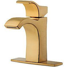 Pfister Venturi Single Control Bathroom Faucet in Brushed Gold Lavatory Faucet, Bathroom Sink Faucets, Shower Faucet, Shower Tub, Diy Bathroom Remodel, Diy Bathroom Decor, Bathroom Styling, Downstairs Bathroom, Bathroom Remodeling