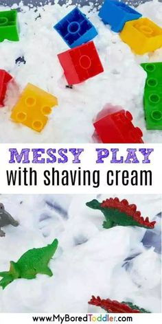 Messy Play with Shaving Cream.
