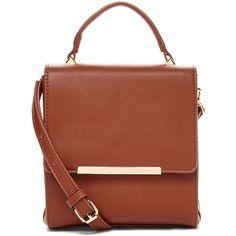 Culture Riot Camel Nolita Crossbody Bag ($22) ❤ liked on Polyvore featuring bags, handbags, crossbody bags, imitation handbags, brown leather crossbody, purse and brown cross body purse