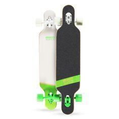 """2015 Brunotti Bob Longboard - Green Het ultieme longboard skateboard. Dankzij het """"droptrough deck"""" heeft het board een zeer laag zwaartepunt. Dit maakt het ideaal voor Downhilling en sliding. Door de dat het board aan beide kanten een Kicktail heeft is hij ook geschikt voor freestyle tricks."""