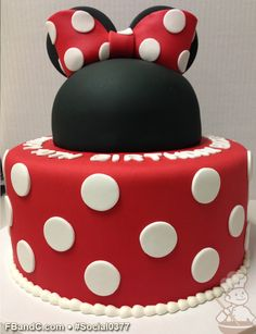 Social 0377 | Minnie Mouse fondant cake.  Looks great and tastes even better! Minnie Mouse Theme Party, Minnie Mouse Birthday Cakes, Baby Girl First Birthday, 1st Birthday Parties, Birthday Ideas, 1st Bday Cake, Specialty Cakes, Fancy Cakes, Celebration Cakes