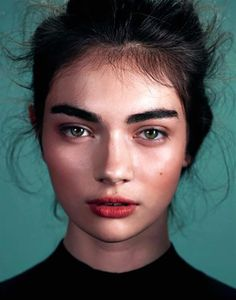 Bold brows. Natural lips. Perfect! Shop for natural, kind products at http://www.nourishedlife.com.au/organic-lipstick/