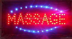 Super brightly customized led light sign led Massage sign neon Massage sign indoor