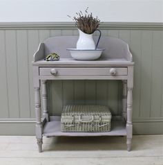Distressed Painted Antique Pine Washstand - For Sale | Distressed But Not Forsaken