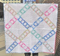 Create this lovely Ladder Lattice Quilt to add some warmth and brightness to your living room, nursery, or little one's room. Free Baby Quilt Patterns, Strip Quilt Patterns, Jelly Roll Quilt Patterns, Quilting Patterns, Lap Quilts, Strip Quilts, Patch Quilt, Quilt Blocks, Charm Pack Patterns