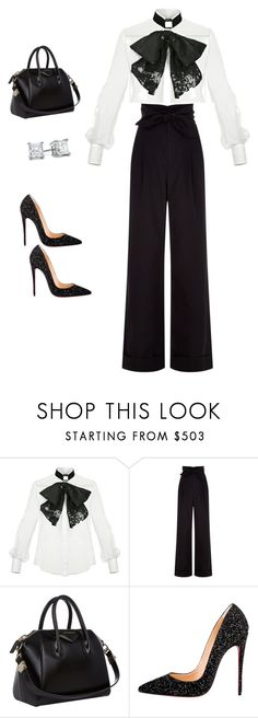 """Simple"" by goldiebutterfly on Polyvore featuring Elisabetta Franchi, Alexander Wang, Givenchy and Christian Louboutin"