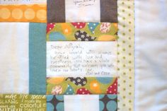 Moda Bake Shop: Life Cycles Quilt good design for A's signature quilt