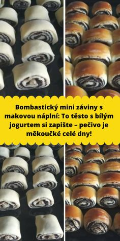 Bombastický mini záviny s makovou náplní: To těsto s bílým jogurtem si zapište – pečivo je měkoučké celé dny! Shabby Chic Crafts, Something Sweet, Amazing Cakes, Party Time, Food And Drink, Vegan, Baking, Ethnic Recipes, Sweet Treats